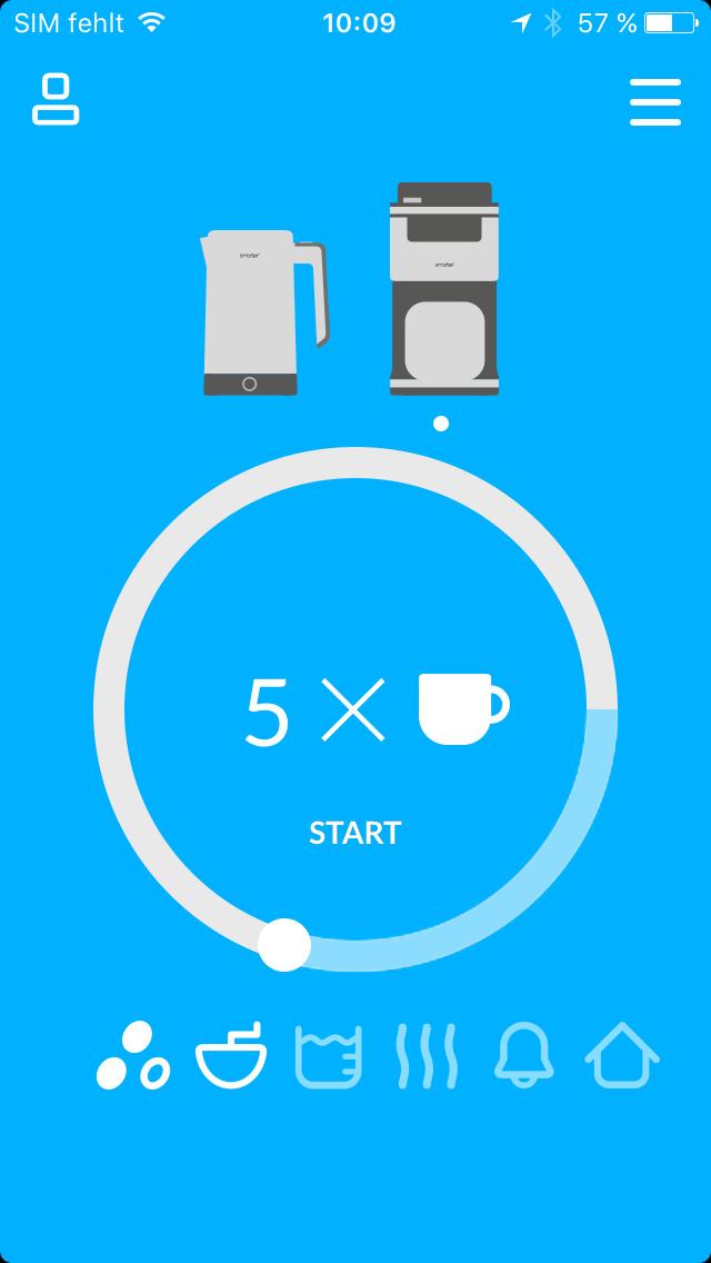 Per App Startet Man Nicht Nur Die Kaffeemaschine Smarter Coffee, Sondern  Legt Fest, Wie Viel Tassen Sie Brühen, Wie Fein Die Bohnen Gemahlen Und Wie  Stark ...