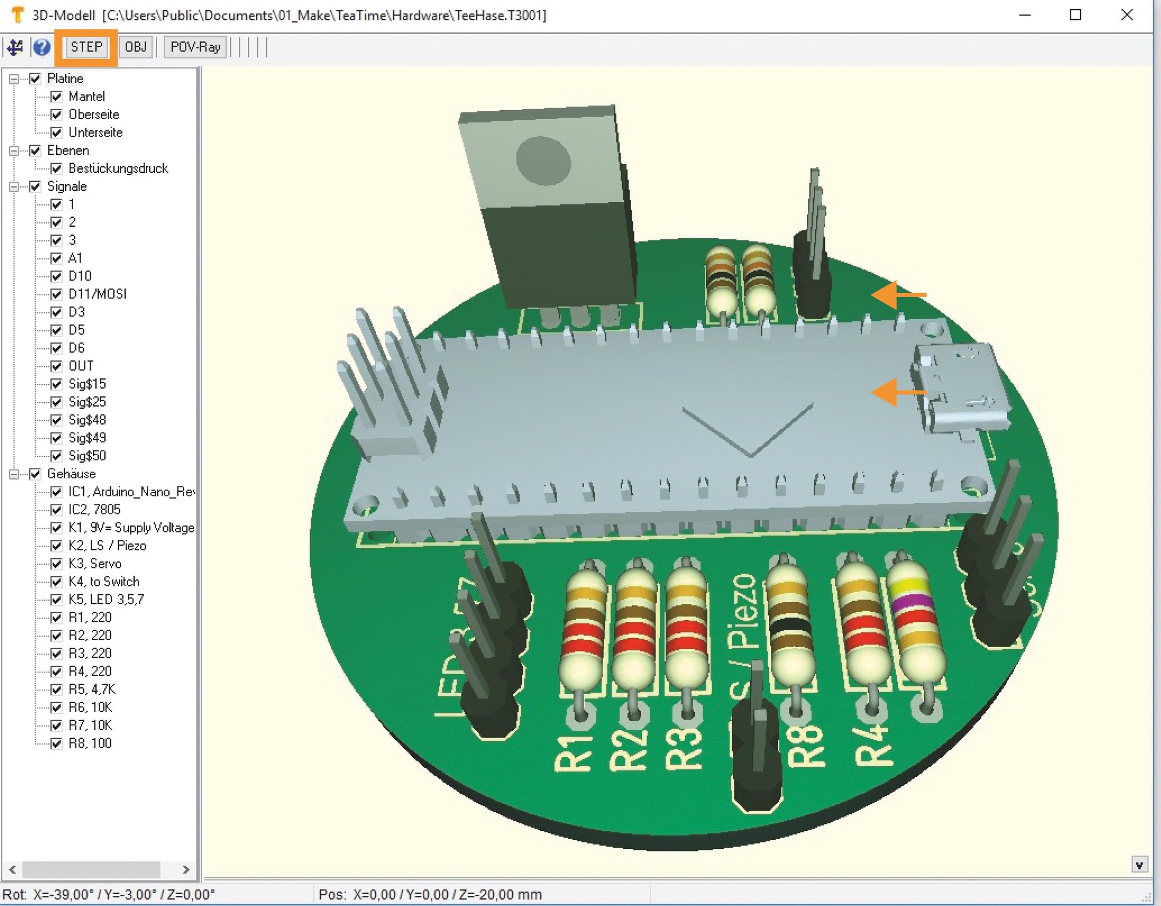 Von der Schaltung zur 3D-Platine | Make Magazin | Heise Select