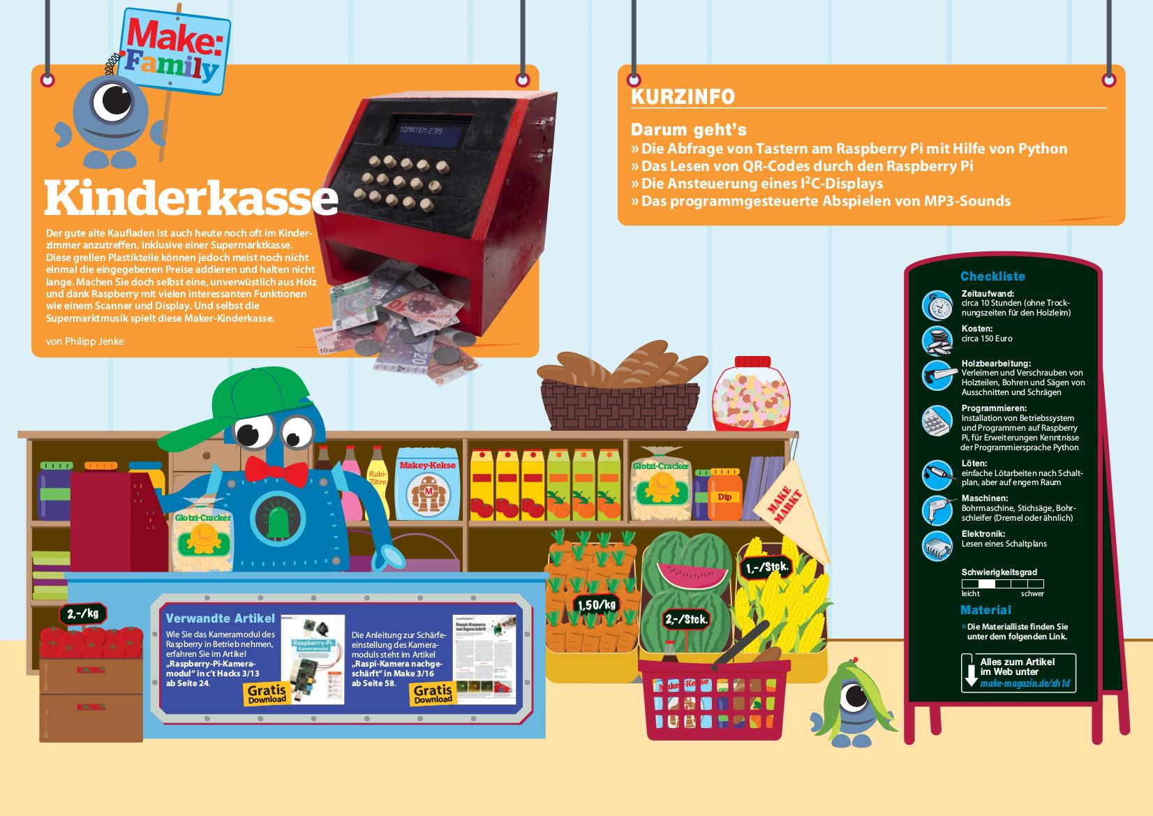 Kinderkasse | Make Magazin | Heise Select