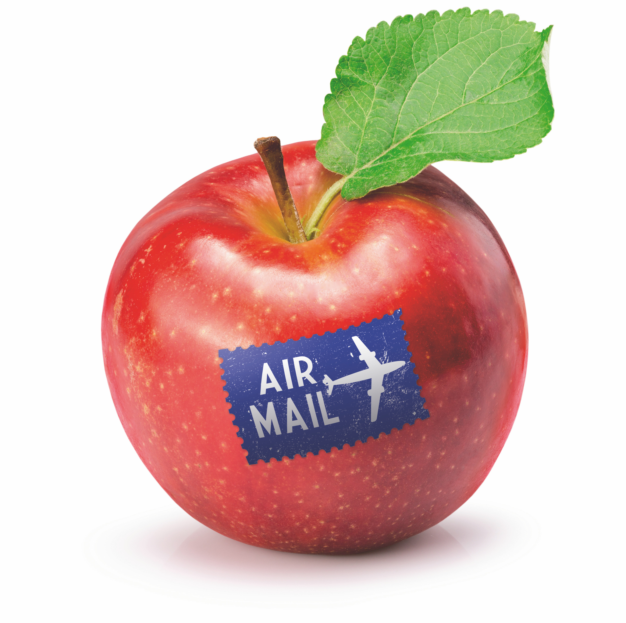 Collage apfel air mail