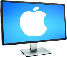Mac mit Apple-Logo